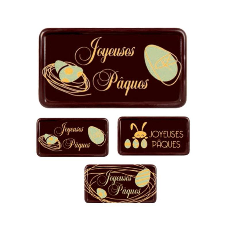 Rectangles assortis chocolat noir Joyeuses Pâques (x64)