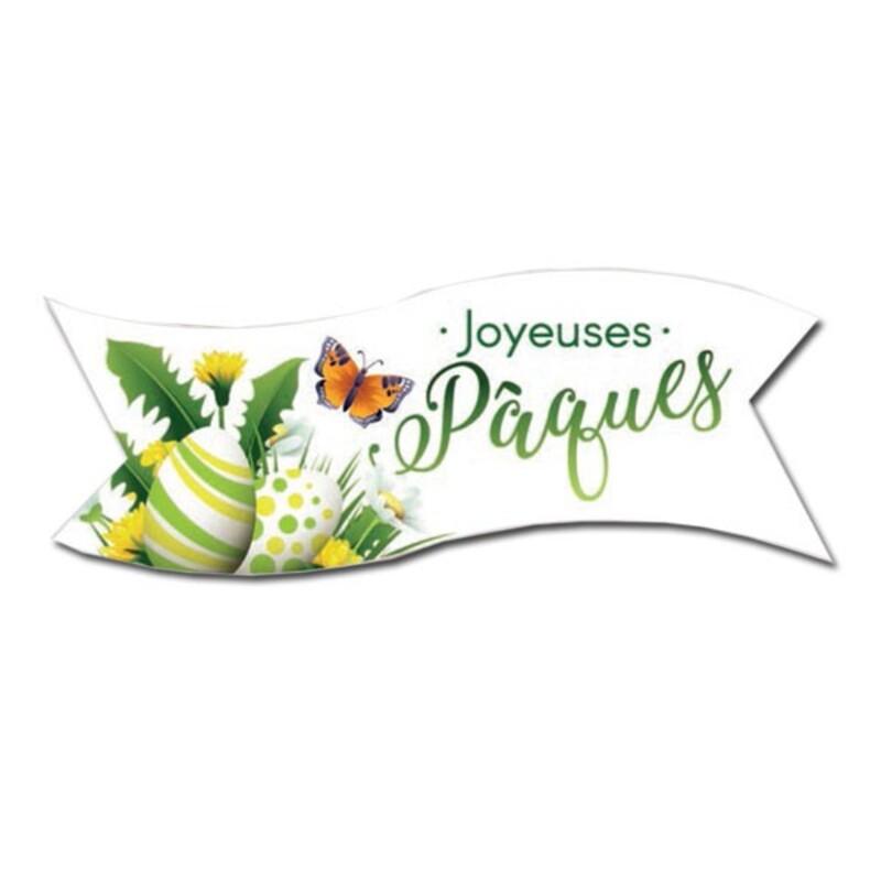 Banderoles azyme Joyeuses Paques 90x30MM