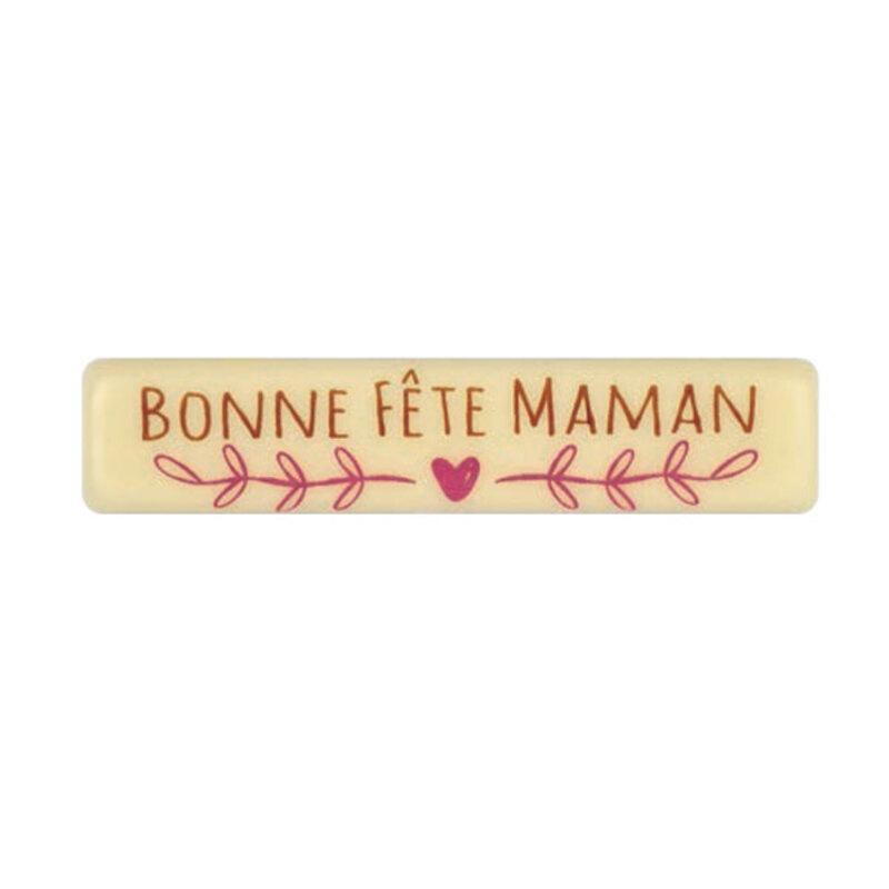 Rectangle Chocolat blanc Bonne Fête Maman (x66)