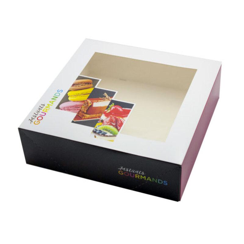 Boîte pâtissière fenêtre 32 x 32 cm (x50)