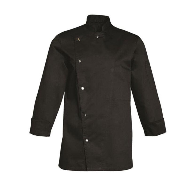 Veste de cuisinier manches longues noire Alban