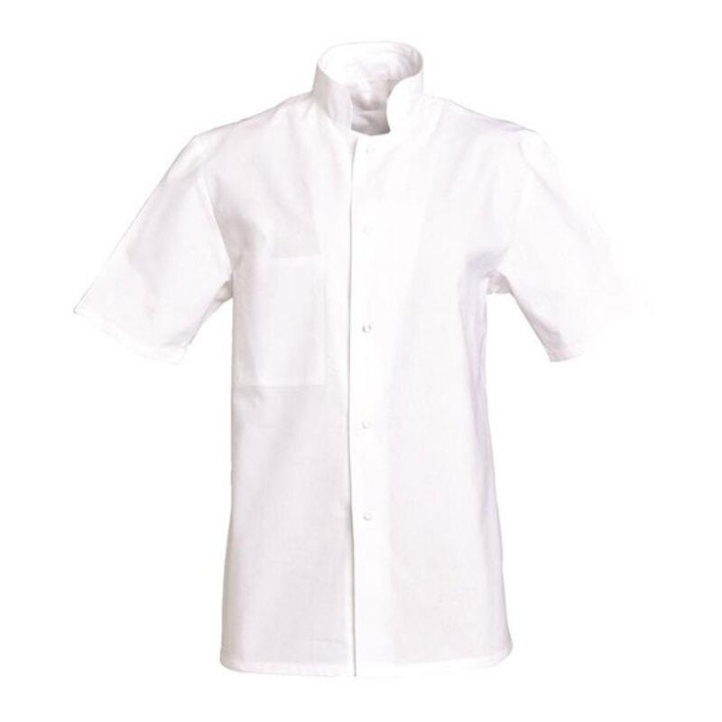 Veste manches courtes blanche Henry