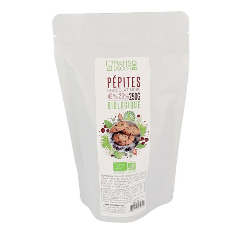Pépites de chocolat noir Bio 250 g 60% Patisdécor