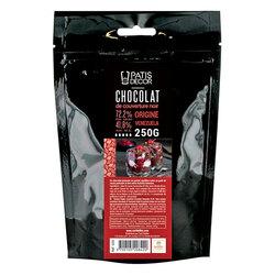 Chocolat Noir origine Venezuela 72% Barry 250 g - Patisdécor