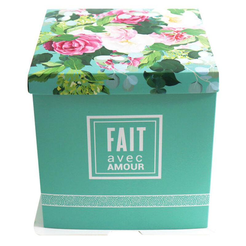 Boîte à gâteau bouquet de fleurs Patisdécor