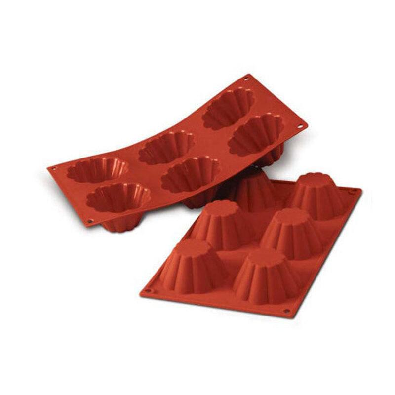 Moule silicone 6 briochettes
