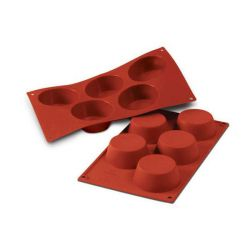 Moule silicone 5 grands muffins Ø81 mm