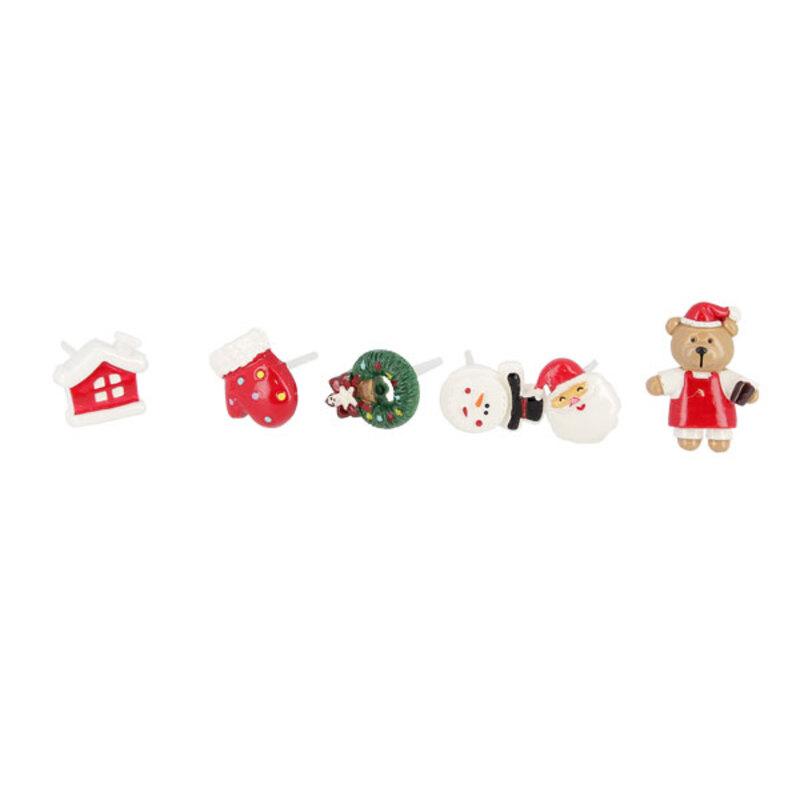 Décors de Noël assortis en résine thème 1 (x24)