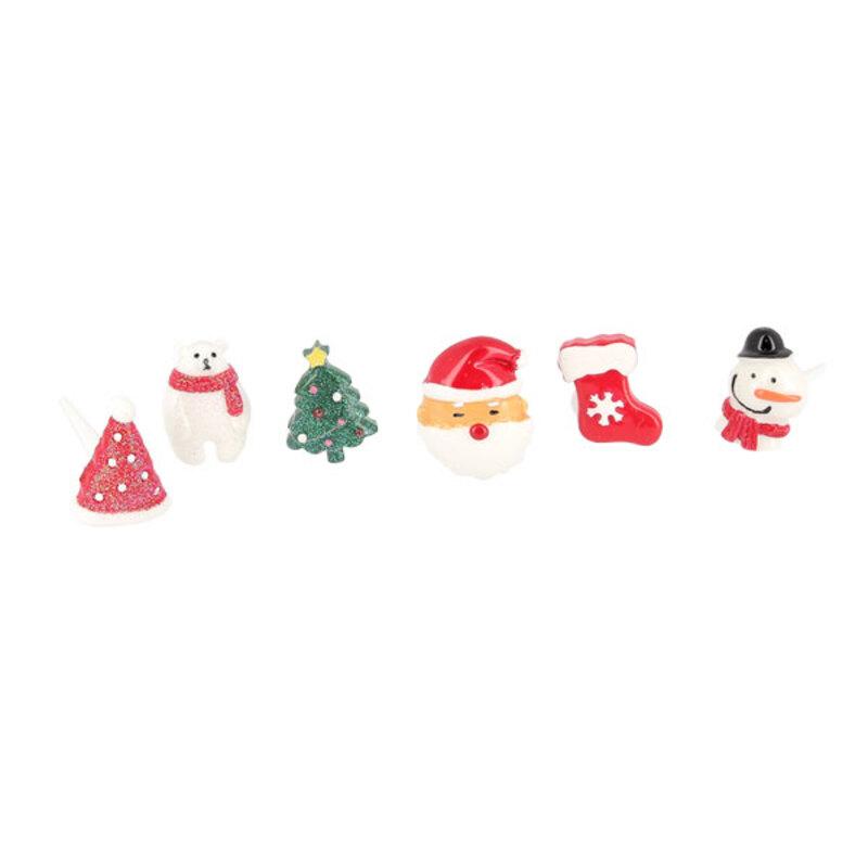 Décors de Noël assortis en résine thème 2 (x24)