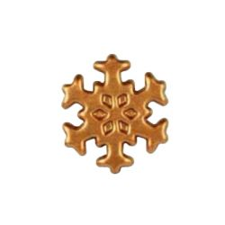 Flocon de neige bronze en chocolat noir (x132)