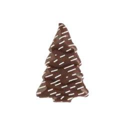 Sapins de Noël neigeux chocolat noir (x128)