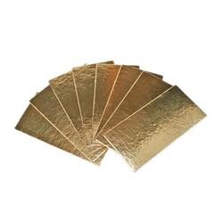 Semelles à bûche carton or, bords droits (x50)