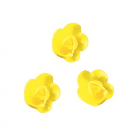 Mini-rose jaune (x72)