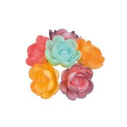 Grandes roses assorties nuancées (x36)