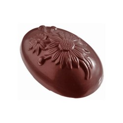 Moule oeuf en chocolat fleurs