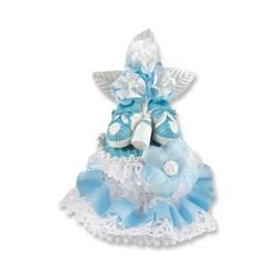 Décor baptême chausson bleu