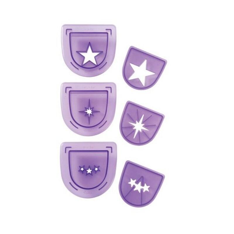 Poinçons étoiles assortis Wilton (x3)