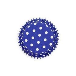 Caissette cupcake bleues pois (x50)