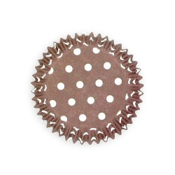 Caissette cupcake taupe pois (x50)