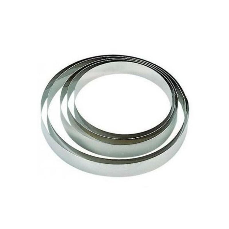 Cercle à mousse inox ht 4,5 cm