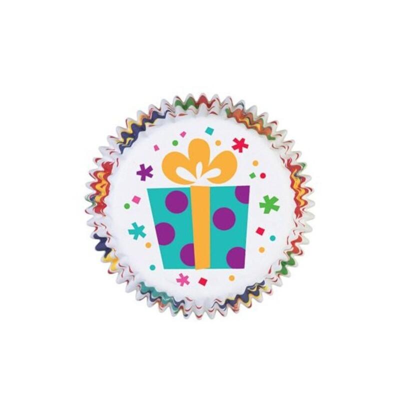 Caissettes cupcakes anniversaire Wilton (x75)