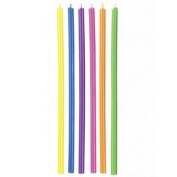 Longues bougies multicolores Wilton (x12)