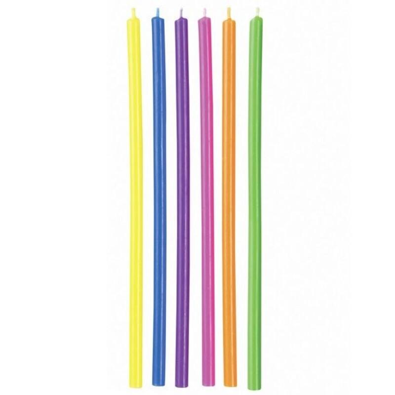 Longues bougies multicolores Wilton (x 12)