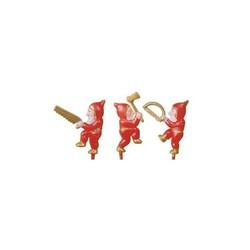 Lutins rouges sur piques assortis (x144)