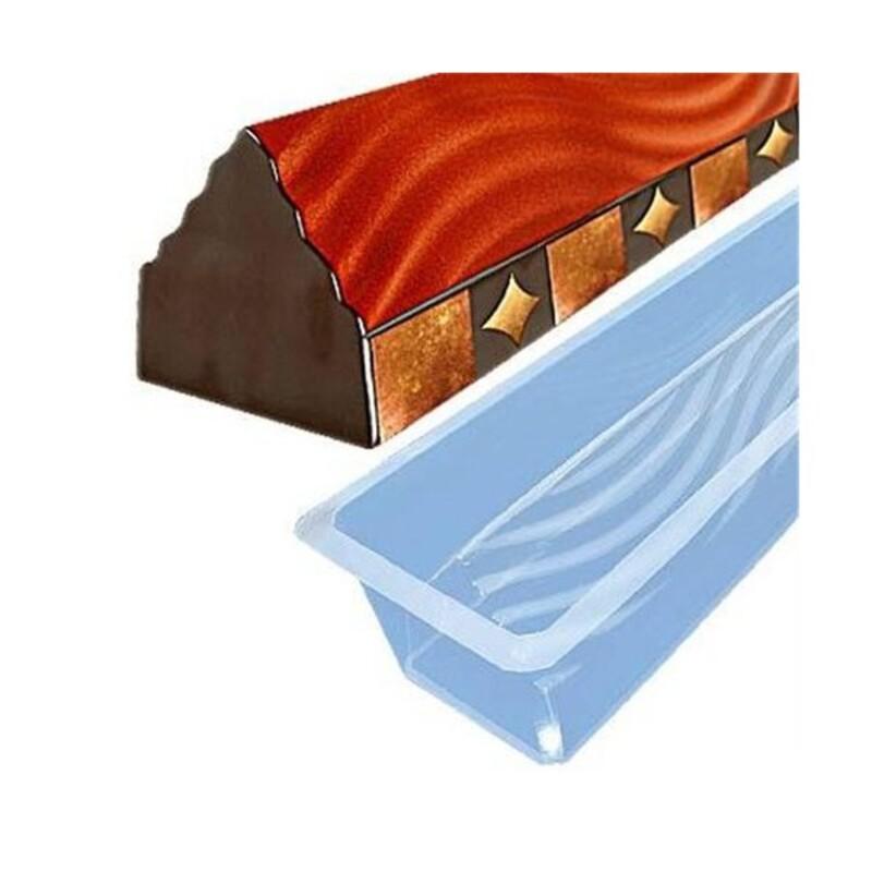 moule a buche pvc triangle ondul 50 cm x12 cerf dellier. Black Bedroom Furniture Sets. Home Design Ideas