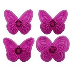 Découpoirs papillons 4 modèles (par 4)