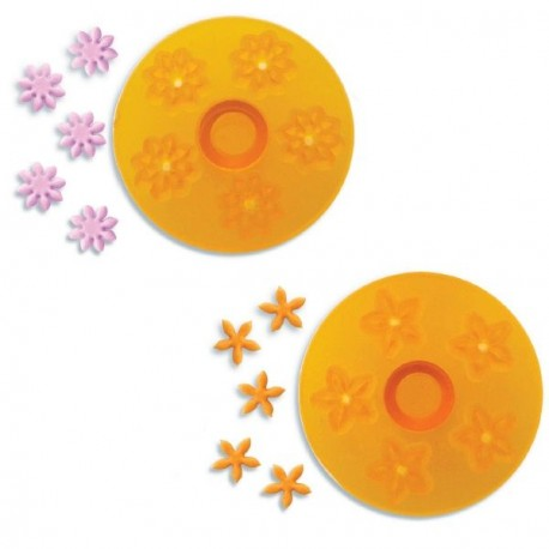 Découpoirs roues à fleurs 2 modèles
