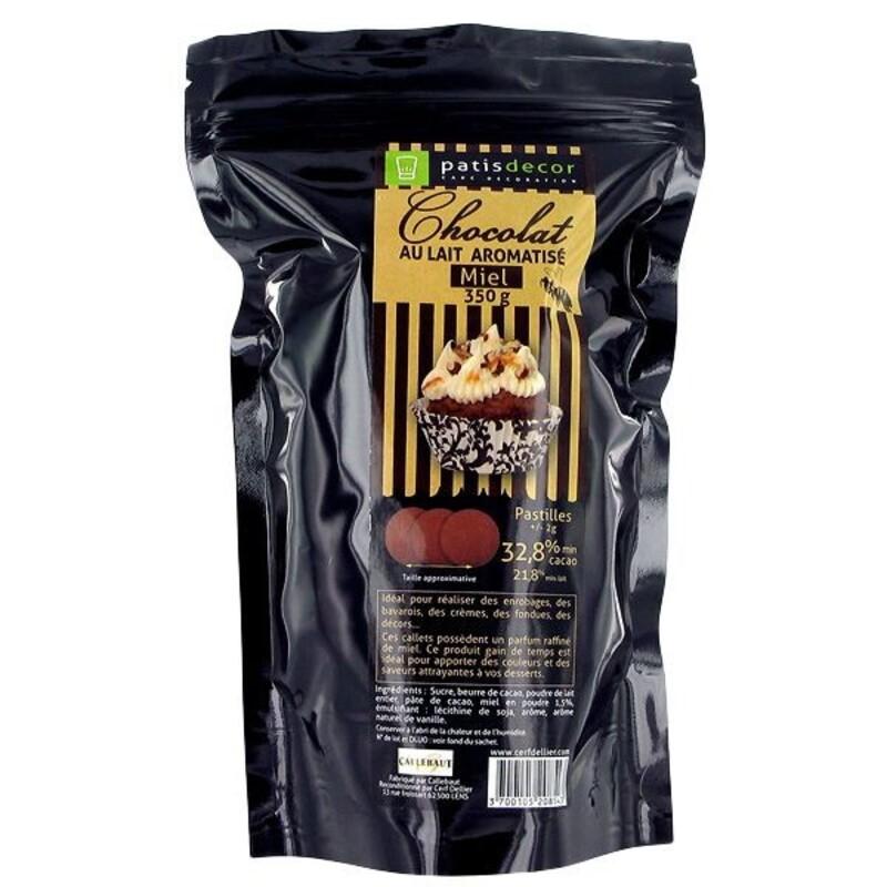 Chocolat au Lait Aromatisé Miel Patisdécor 350 g