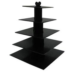 Grand présentoir cupcakes noir carré