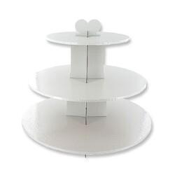 Présentoir cupcakes blanc rond