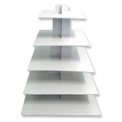 Grand présentoir cupcakes blanc carré
