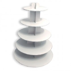 Grand présentoir cupcakes blanc rond