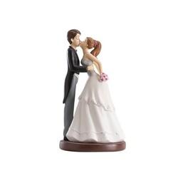 Couple de mariés bisou 16 cm