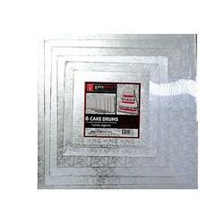 Cartons carrés argent Gatodéco  (série de 6)