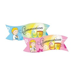 Banderoles Communion assorties (x24)