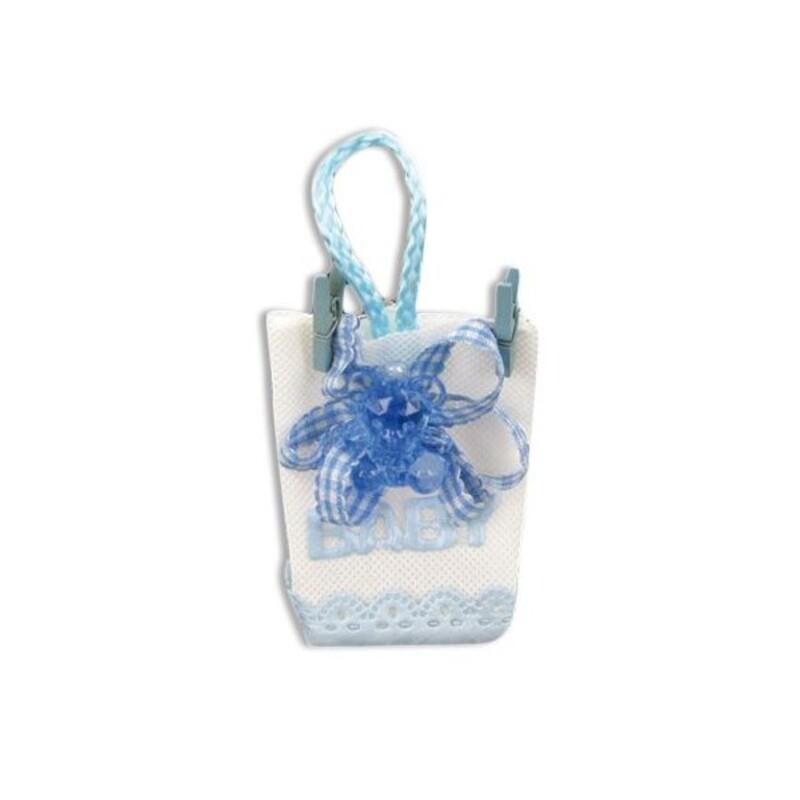 Pochette dragées ourson bleu (x12)