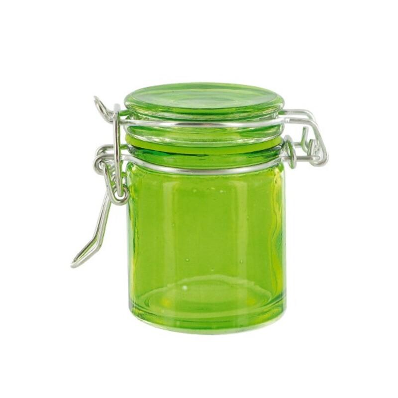 Mini bocal verre bas vert anis (x12)