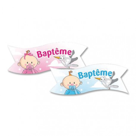 Banderoles Baptême assorties (x24)