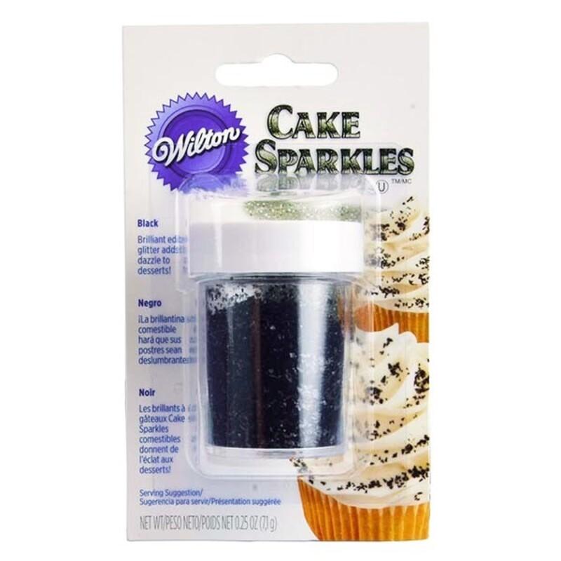 Cake Sparkles noires Wilton (7 g)