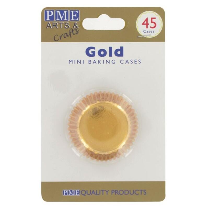 Mini-Caissette cupcakes dorée PME (x45)