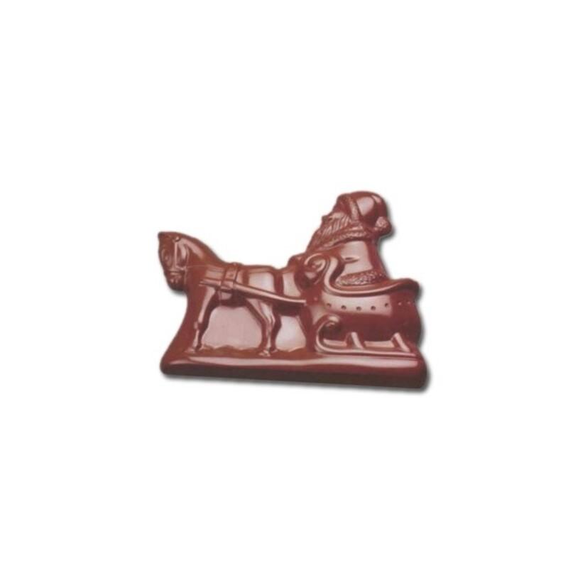 Moule chocolat Père Noël traineau