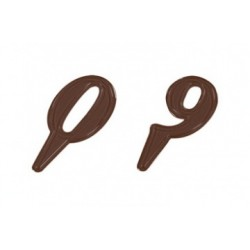 Moule à chocolats chiffres sur piques