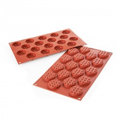 Moule silicone mini-gaufres rondes