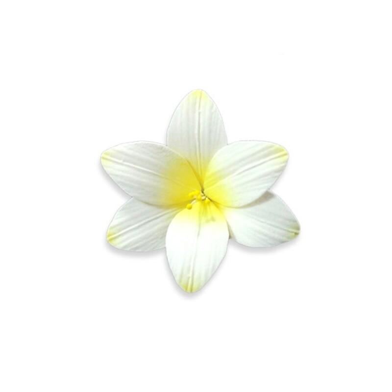 Fleur de freesia en pastillage jaune Gatodéco (x2)