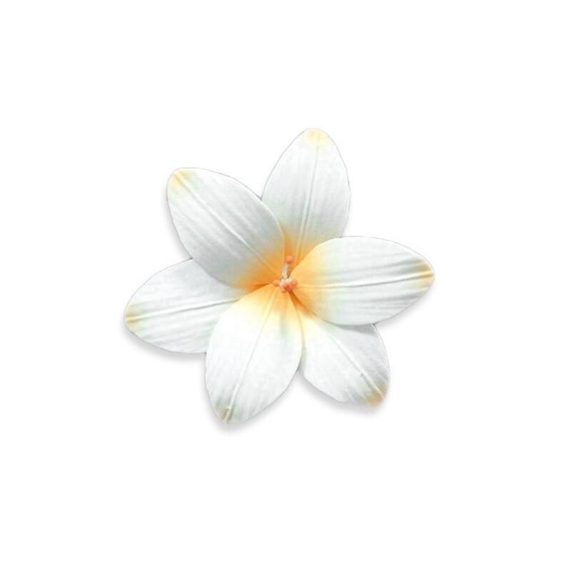 Fleur de freesia en pastillage pêche Gatodéco (x2)