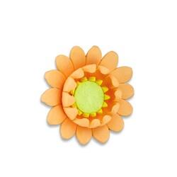 Fleur de nénuphar pêche en pastillage (x2)